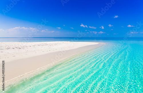 Canvas Print Maldives,  tropical sea background 3!