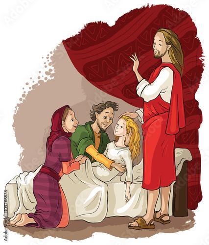 Obraz na plátne Miracles of Jesus. Raising of Jairus daughter