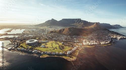 Fototapeta premium Widok z lotu ptaka na Kapsztad, RPA