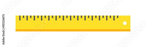 Photo Ruler tool flat icon vector illustration on white background.