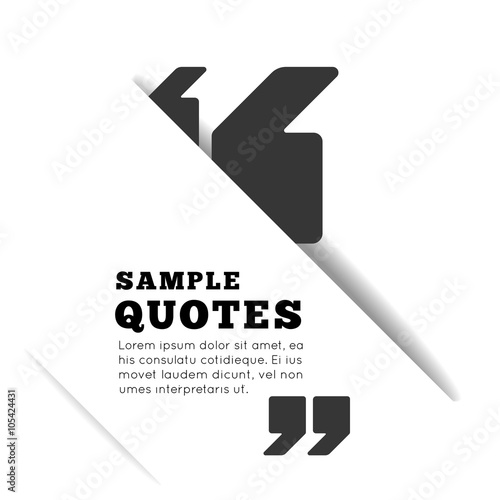 Fotografie, Obraz Quote blank template on white background.