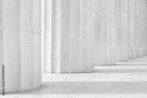 Photo Black and White Pillars