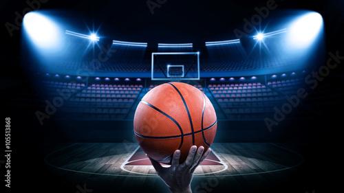 Photo Basketball arena with player