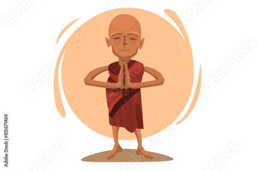 Fotografija Praying Tibetan monk