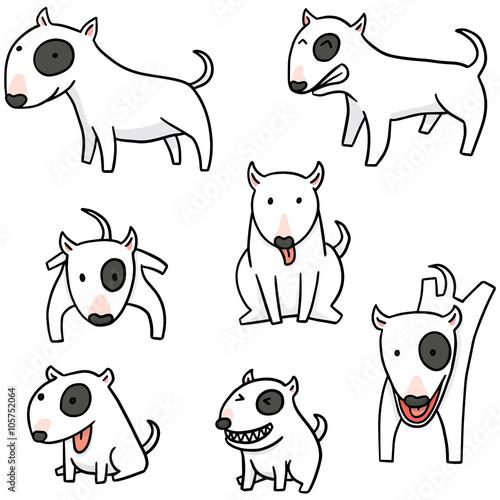 Leinwand Poster vector set of dog, bull terrier