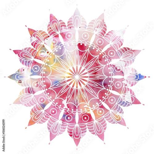 Wallpaper Mural Mandala  colorful watercolor