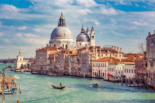 Canvas Print Grand Canal and Basilica Santa Maria della Salute in Venice
