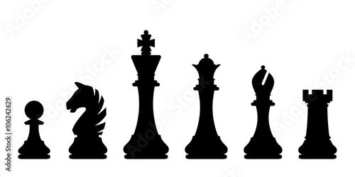 Obraz na plátně Šachové figurky