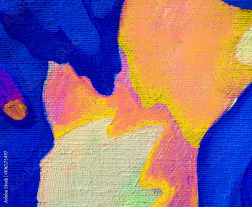 decorative abstract oil painting on canvas,  illustration