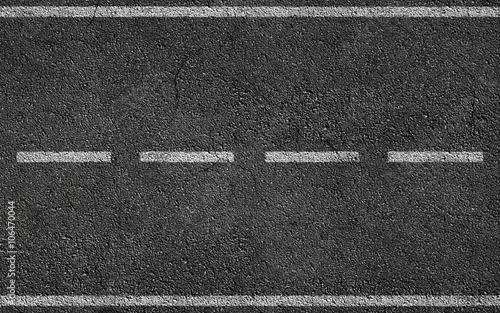Fényképezés White Stripes On Asphalt Road
