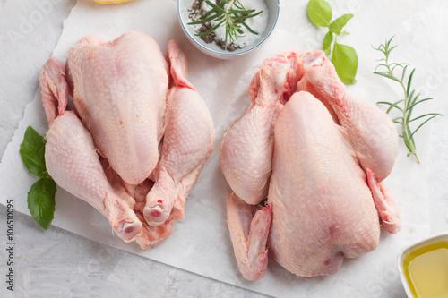 Carta da parati Fresh chicken with spices