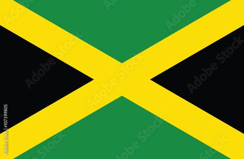 Wallpaper Mural Jamaican flag.