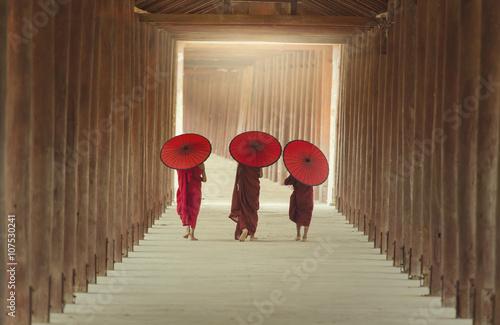 Canvas Print The boys of buddhist monks