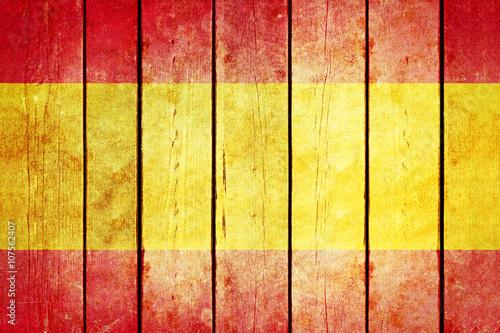 Wallpaper Mural Spain wooden grunge flag.