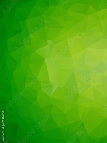 Fototapeta Geometryczny wzór zielonych trójkątów