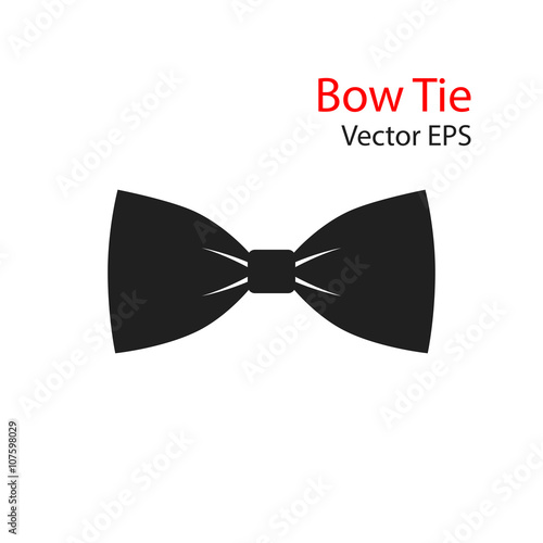 Fotografia Bow Tie Vector flat Icon isolated on white background.