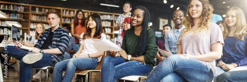 Foto Student Studie Klassenzimmer Vortrag Konzept Mitschüler