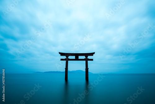 Obraz na plátně Shirahige shrine,takashima city,shiga,japan