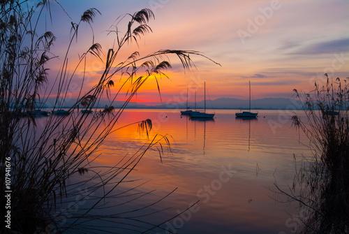 Canvas Print 湖畔の朝