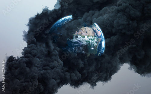 Canvas Print Worldwide disaster. Elements of this image furnished by NASA