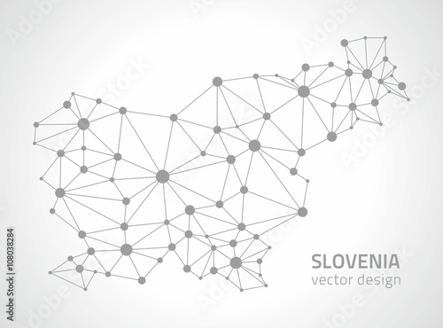 Wallpaper Mural Slovenia vector outline map