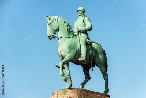 Statue of Otto von Bismarck, German Chancellor Poster Mural XXL