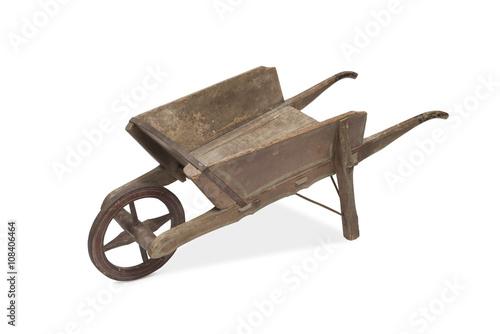 Leinwand Poster A Vintage Wooden Wheel Barrow