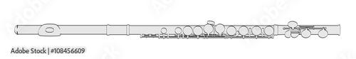 Fotografija 2d cartoon illustration of flute