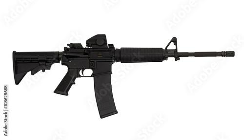 Obraz na plátně AR15 M4A1 Style Weapon USA Combat Automatic Rifle