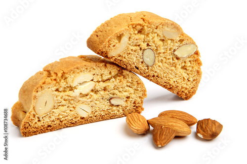 Slika na platnu Italian cantuccini cookie with almond filling