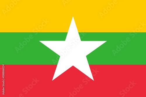 Wallpaper Mural Flag of Myanmar