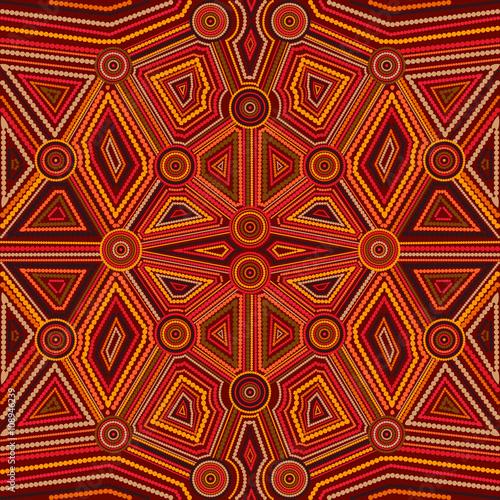 Wallpaper Mural Abstract style of Australian Aboriginal art