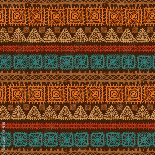 Wallpaper Mural Tribal art ethnic, boho seamless pattern