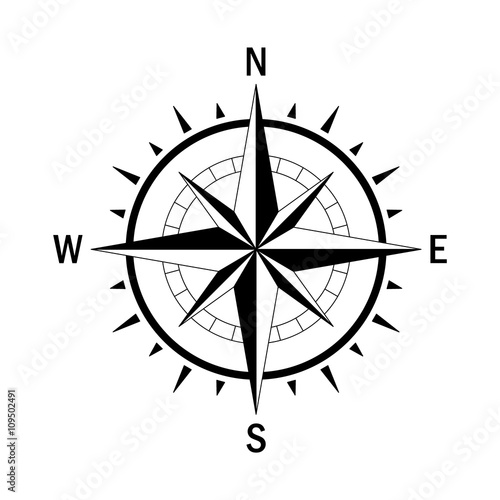 Fotografie, Obraz Compass single 8