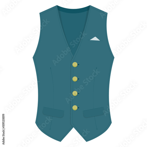 Canvas Print Waistcoat vector illustration isolated on a white background