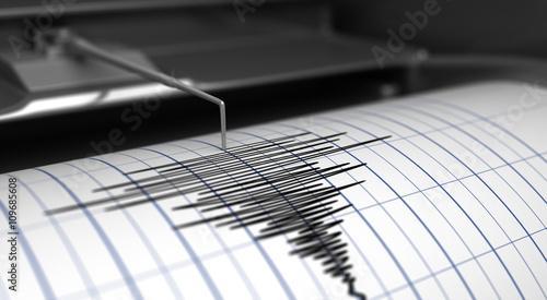Fotografija Seismograph and earthquake