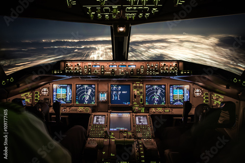 Cockpitlichter Fototapet