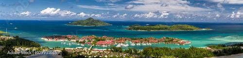 Fotografie, Obraz Seychelles Aerial, Eden Island and Inner Islands