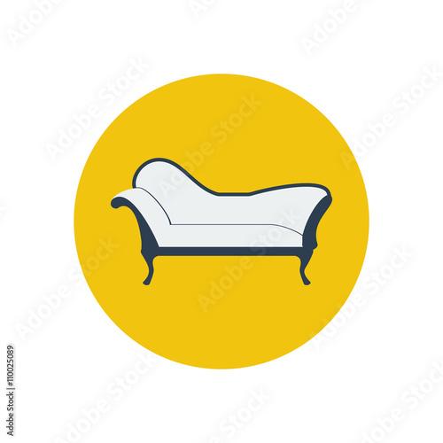 Slika na platnu Chaise lounge armchair seat