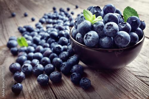 Fotografia, Obraz Blueberry antioxidant organic superfood