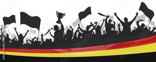 Photo Deutschland Fans Fahnen