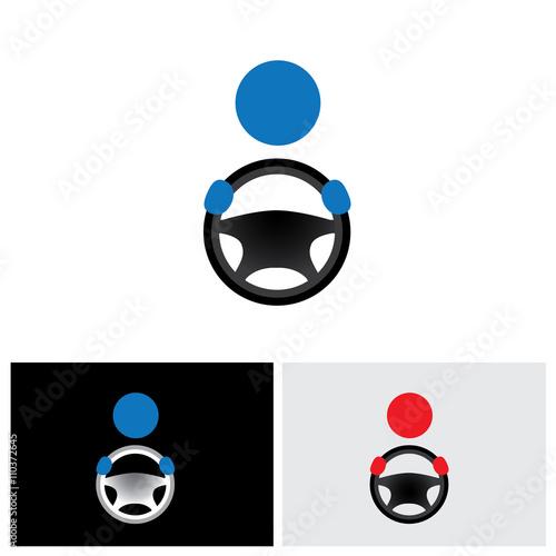 Vászonkép driver icon, driver icon vector, driver icon eps 10, driver icon