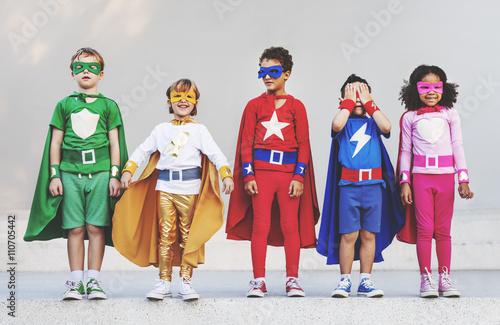 Fotografia Superhero Kids Aspiration Imagination Playful Fun Concept