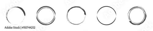 Fotografija Round decorative circle collection