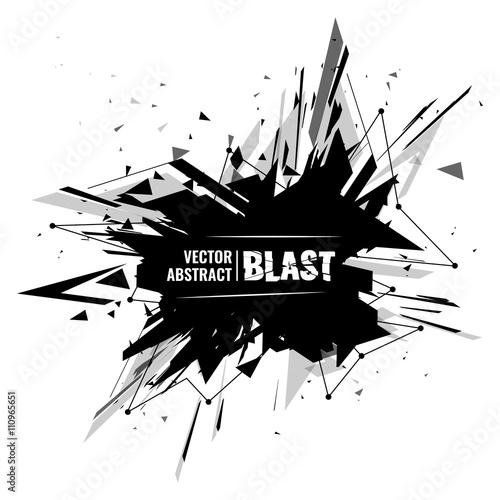 Fotografia, Obraz abstract image of explosion, illustration background, dark matter, the explosion effect