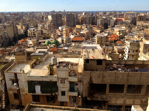 Densely populated city of Tripoli Lebanon.