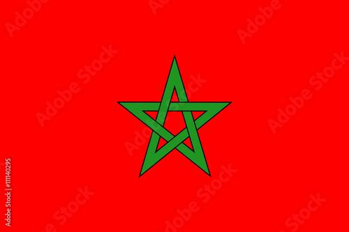 Morroco flag / Drapeau du Maroc