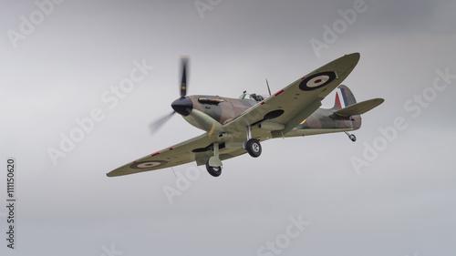 Fotografia Vintage Spitfire fighter aircraft