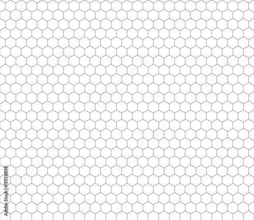 Fotografiet Gray hexagon grid seamless pattern