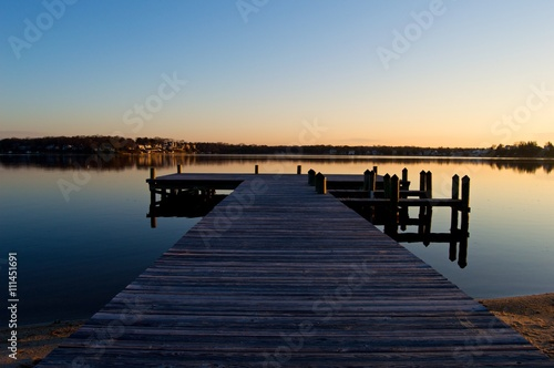 Sunrise at the Dock on the River